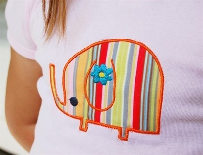 Picture of Elephant Applique and Outline